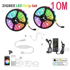 Zigbee ZLL Controller 5050 IP65 Wateroof RGBW 4in1 LED Strip s &12V Power Supply Works with Hue Amazon Echo Plus for APP