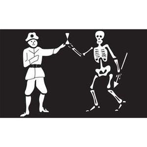 Cruz de la bandera pirata espadas Nueva pirateship Bandera 3x5FT bandera 100D poliéster 150x90cm ojales de bronce hechos, envío libre
