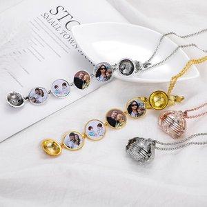 Магия фото кулон памяти плавающий медальон ожерелья для женщин мужчины мальчик девочка семья Крылья Ангела Флэш-коробка мода альбом коробка ювелирных изделий