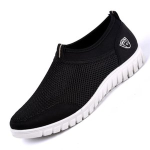 Casual Sneakers Men Shoes Mesh Black Sneakers for Men Breathable Sapato Masculino Slip-On Male Shoes Loafers Tenis Hombre