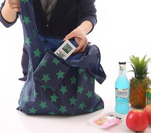 Горячие Творческого мешок окружающей среды хранения сумки Печатной Складная сумок многоразовое использование Складной Бакалея Нейлон Eco сумка Бесплатная доставка