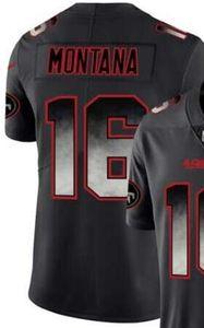 Noir Smoke Fashion Limited Jersey San Francisco Hommes 10 16 80 85 97 Chemises jersey Toutes les équipes maillots de football américain 00