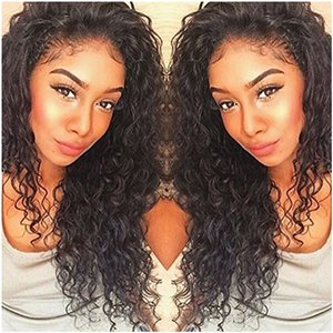 Kinky Kıvırcık% 100% Malezya İnsan Saç Dantel Ön Peruk Kadınlar Için kıvırcık 360 Frontal Peruk ön koparıp 130% yoğunluk