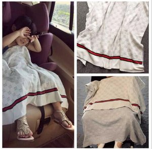 90 * 120CM المولود الجديد محبوك البطانيات أزياء الأطفال قمط عربة الفراش أغطية الفراش التمريض الناعمة