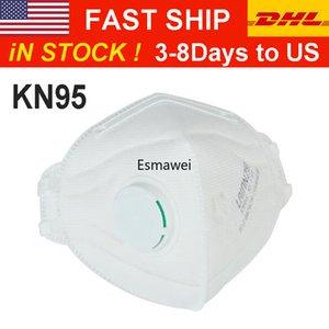 En existencia de Factroy La oferta de alta calidad KN95 Mascarilla Protect plegable de la mascarilla anti-polvo GB2626-2006 el envío rápido por DHL