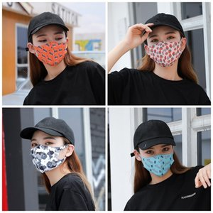 На открытом воздухе стерео маски для лица Mascherine цветок фрукты камуфляж Printting пылезащитная маска крышка рта анти капля слюны всплеск респиратор 1 95js E1
