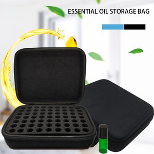 63 Bottle Essential Oil Case 5ML Perfume Oil Essential Oil Storage Bag Portable EVA Travel Carrying Holder Nail Polish Organizer