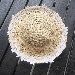 Menoea Çocuklar Hat 2020 Yeni Yaz Kadın Bebek Çiçek Hasır Şapka Kız Küçük Taze Balıkçı Güneş Yağ Güneş Koruyucu Güneş Tide