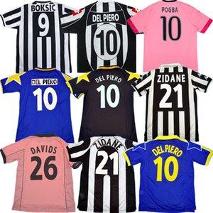 Retro Juve DEL PIERO Fußball-Trikot 84 85 92 95 96 97 98 99 02 03 11 ZIDANE Antike maillot DAVIDS Älteste Hemd