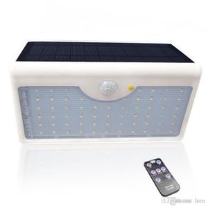 Güneş Işık 1300lm 60 LED 5 Modları ile Kontrolörü IP65 su geçirmez Güneş Enerjisi Lambası İçin Açık Bahçe Duvarı Çit Yard