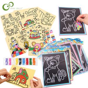 20pcs / set 10pcs / set Magia zero Art Doodle Pad Areia Desenhar Pintura brinquedo educação Cartões Precoce Educação Aprendizagem Criativa para Crianças