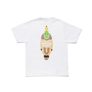 2020 magliette Designer primavera-estate di lusso umano fatto dell'anatra del fumetto tè Stampa maglietta del Mens di modo delle donne cotone manica corta Top