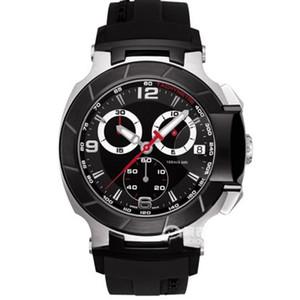 T048.417.27.057.00 Mens Watch Moda Esportes Militares Relógios T048 Chronograph Mens Quartz relógios de pulso impermeável T-Race Assista Marca Top