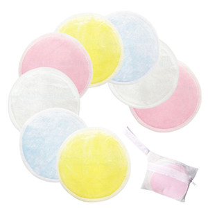 New 12pcs Bamboo Cotton Soft Reusable Skin Care Face Wipes Washable Deep Cleansing Cosmetics Tool Round Makeup Remover Pad