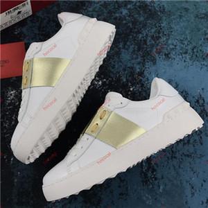 valentino Männer Schuhe Weiß Lederspringgamaschen Sneaker mit blauem Band NY0S0830 BLU G62 hococal Trainer-Turnschuhe