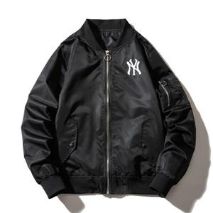 Jaqueta Homens Lazer Os Novos adolescentes impressão uniforme de Beisebol MA-1 vôo Curto parágrafo Hip hop casaco jaqueta novo estilo