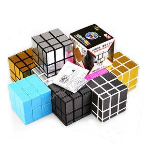 Espelho mágico cubos 3x3x3 Professional cast coated enigma velocidade Cube Brinquedos torção de Puzzle presentes criativos Magia 6 cores brinquedo Cubo Mágico