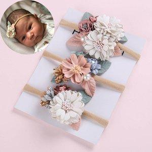 Floral Hair Accessories Accessories Baby Girl Headbands Newborn Baby Elastic Princess Hairbands Kids Pearl Flower Fresh Style Cute Hair Acce