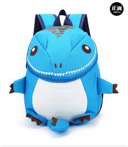 Tendência nova crianças dos desenhos animados do jardim de infância bolsa de ombro personalidade moda pequeno dinossauro crianças saco mochila estudante
