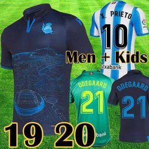 Real Sociedad camiseta de futbol 2019 20 X.PRIETO J.ZALDUA AGIRRETXE 19 20 Jersey de Futbol Local CARLOS V. GRANERO M.BERGARA JUANMI Camiseta de fútbol de alta calidad