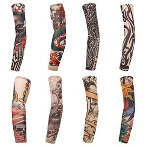 Mode Armhülse Sun Protective Outdoor Radsport Sleeves 3D Tattoo Printed Sport UV-Schutz-Fahrrad-Sleeves Partei FavorT2I5971