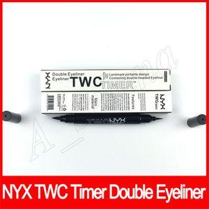 Neue Augen Make-up NYX TWC Timer Doppelkopf Eyeliner wasserdichte Augen-Liner natürliche Langlebiges nyx Eyeliner dhl frei