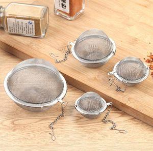 Sphère en acier inoxydable de verrouillage Spice Boule à thé Passoire Mesh Infuser passoire à thé filtre infuseur Outils Mesh à base de plantes boule de cuisine thé