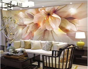 Custom 3d wallpapers Modern minimalist fashion fantasy living room lily wallpapers classic painting wallpaper