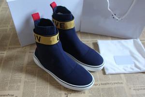 Moda de nova homem designer de malha meados sneakers alta top sapatos de vestido melhor qualty rubber sole tênis de couro de luxo para venda 35-46