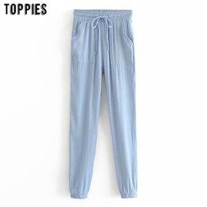 toppies casuali dei jeans pantaloni con coulisse pantaloni jogger donne pantaloni della tuta T200622 pantaloni estivi