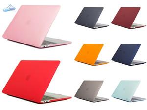 Caso para el MacBook Air Pro 11 12 13 pulgadas recubierta de goma dura del ordenador portátil mate delante detrás de cuerpo completo la cubierta del caso de Shell A1369 A1466 A1708 A1278 A1465