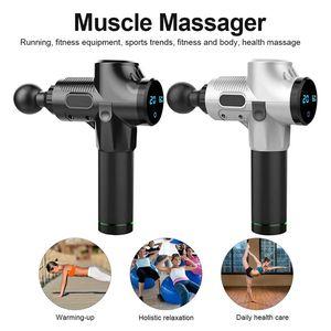 2020 Muscle Massage Gun 20 Speed Deep Tissue Therapy Fascia Massager Gun Exercising Sport Pain Relief Body Vibrador Exercising 6 Heads EM03