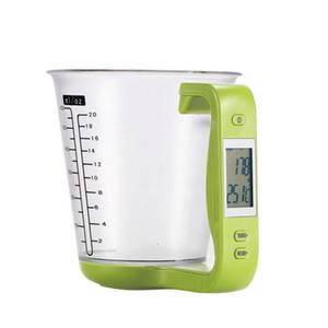 Araçlar Ölçme Kupası Ölçek 1kg / 1g LCD ekran Kitchen Ölçme 10pcs Ev Mutfak Su