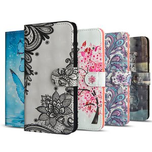 Custodia in pelle PU per Samsung galaxy S10 Plus S10 Lite S8 S9 Plus Custodia Flip per Samsung galaxy Note 9 3D Vision Painted Pattern Coque