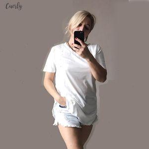 2020 Summer T Shirt Women T V Neck Shirts Big Size T Shirt V Neck Short Mouw Casual Tea Tops Womens Tunisia