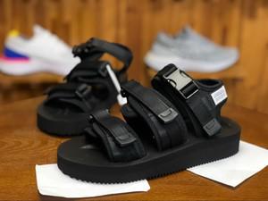 Yeni En Kaliteli SUICOKE MOTO VS CAB KAW Erkekler Kadınlar Için 18ss Sandalet Moda PIL Slayt Siyah Siyah Terlik Sandal