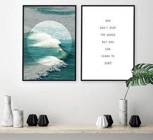 Waves Surfer Ocean Beach décoration murale art Inspirational vente à chaud affiche populaire 6