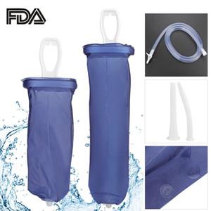 1.6l / 2l Enema Bag Kit 남성 여성 재사용 가능 실리콘 애두 악취 질내 정맥 관개 질 세척 세정제 변비 SH190727
