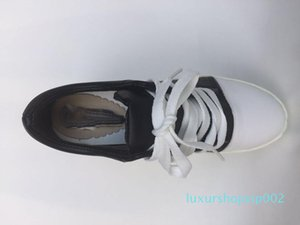 Hot Sale-Height Increasing 9cm Canvas Shoes Woman Hidden Heel Platform Shoes White Black Casual Shoes For Women Trainers