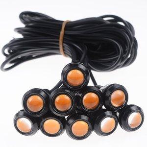 New Yellow Eagle Eye Luzes 10X 9W 12V 18MM 110lm LED Águia Luz Eye Car Fog DRL Daytime reverso Estacionamento Signal