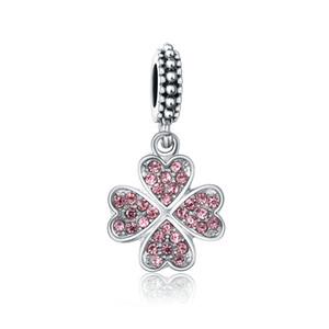 Fascini Hot Fit Pandora Charms Famiglia braccialetti di DIY ciondola la collana perle originali dell'annata del pendente d'argento per monili che fanno Cuore Pendenti