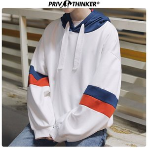 Privathinker Harajuku surdimensionné Hoodie d'hiver Hommes Femmes manches longues Sweat-shirts Manteau Patch coréenne lâche Sweat-shirt 2017 T200102