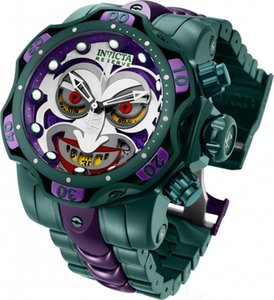 DC Comics Joker hombres del invicta reloj de 52,5 mm de acero inoxidable de aluminio del silicón Modelo 30124 26790 30063 30064 Cuarzo Suizo Para dorpshipping