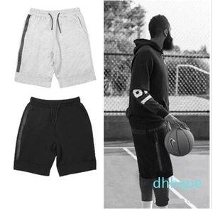 Il nuovo modo di pallacanestro Pantaloncini Fleece Sport Shorts Pocket Zipper Sport Pantaloni Pantaloni Casual Grigio Nero S-XL ky08