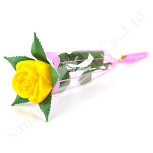 Nouveau LED Light Up Rose Fleur Glowing Saint Valentin mariage Décoration clorful lumineux Faux Fleurs Rose Party Supplies Décoration C121805