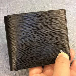 15 색상 럭셔리 캐주얼 지갑 상자 정품 유행 가죽 지갑 Unisex 블랙 가죽 MB 지갑 남성 여성 짧은 Bifold 지갑 지갑