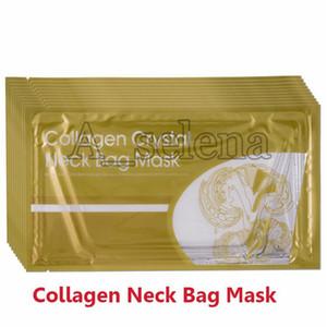 Collagen Kristallgoldhals Tasche Maske Goldkristallkollagen-Ansatz-Schablone Anti-Aging White Gold 2 Styles