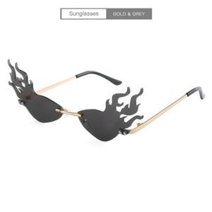 Womens Praia Popular Verão Designer óculos de sol flama forma óculos de sol Homem Goggle Óculos UV400 7 cores opcionais Super Qualidade