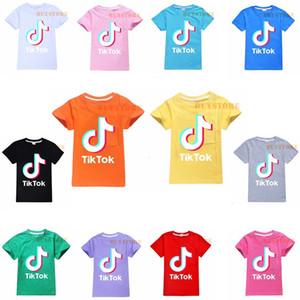 TikTok Çocuk Tişört Yarım Kol 12 Stiller Opsiyonel% 100 Pamuk Çocuk Giyim Çocuk Boy / Kız Tees Tops