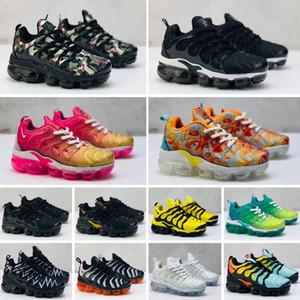 Nike Air Max Tn plus 2020 Tn Inoltre i più piccoli bambini traspirante Cushion Running Shoes bambino dei bambini delle ragazze dei ragazzi Trainer Bumblebee triple nero Sneak
